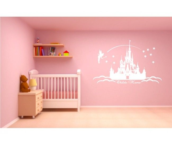 Yes!!! It's stuff like this that makes me want a baby girl! disney castle wall art --- baby girl room
