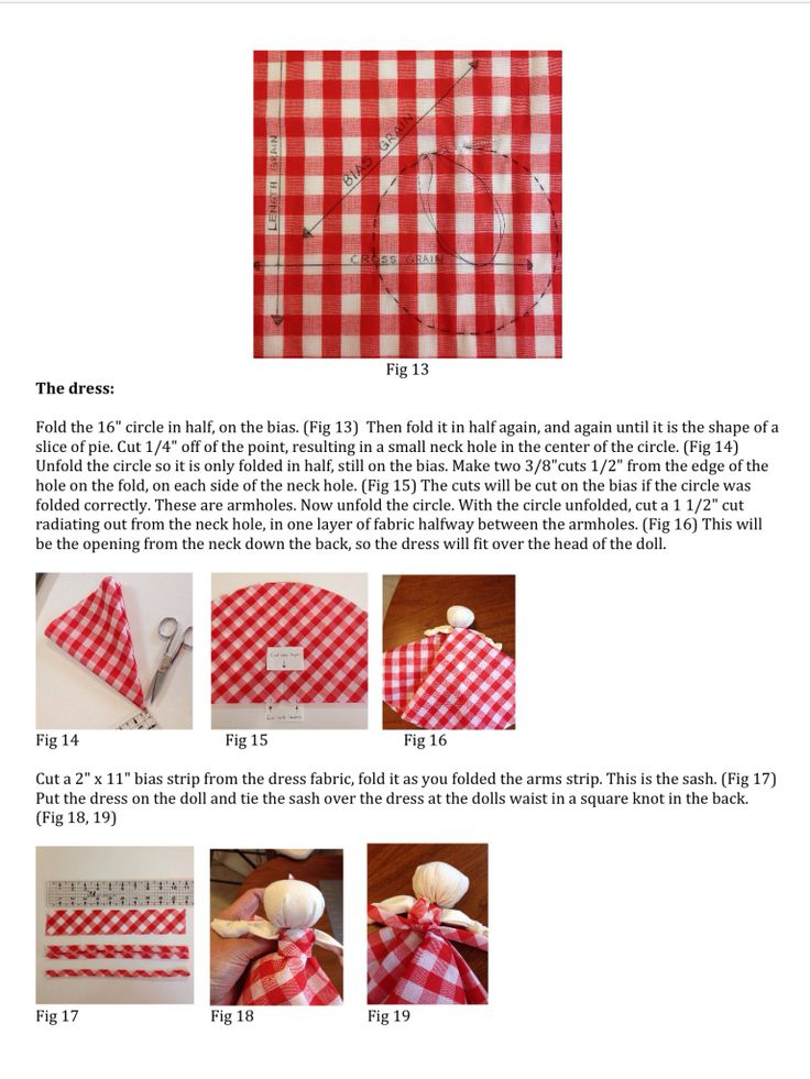 Knot Doll Detailed instructions page 4 of 5