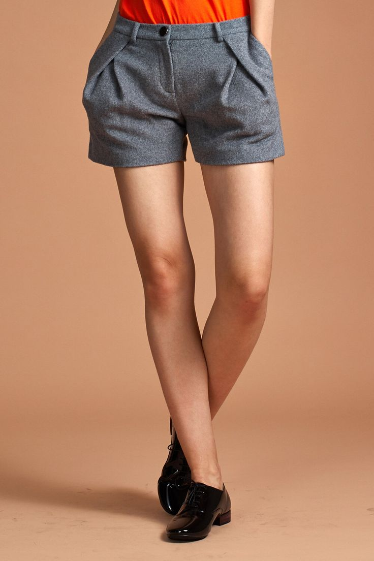 Angora Wool Shorts - Gray Shorts - Wool Shorts - Free Shipping by garylindesign on Etsy https://www.etsy.com/listing/204283470/angora-wool-shorts-gray-shorts-wool