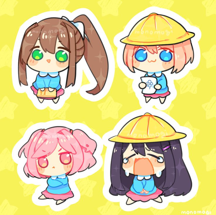 Doki Doki Literature Club but they look similar to pop team epic