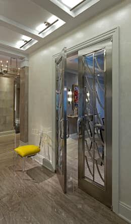Art Deco Doors: classic Corridor, hallway & stairs by Douglas Design Studio