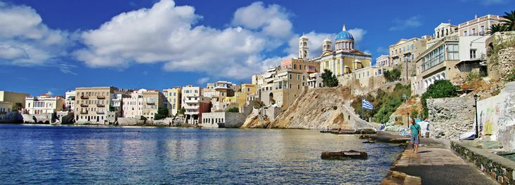 A day trip to the beautiful island of #Syros dont miss it...