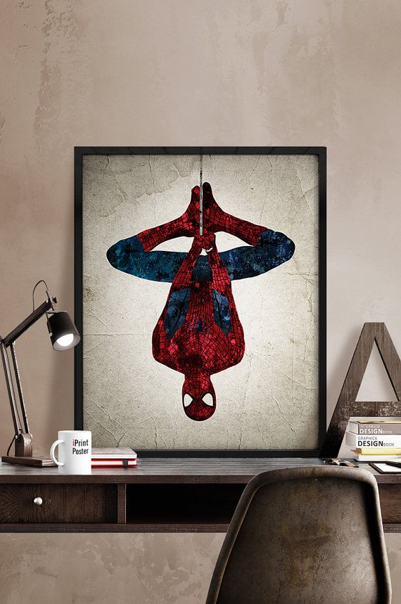 Spiderman poster, Spiderman print, Superhero poster, Hero print, Art, Hero Illustration, Abstract, Wall, Artwork, Comic poster, Home Decor.