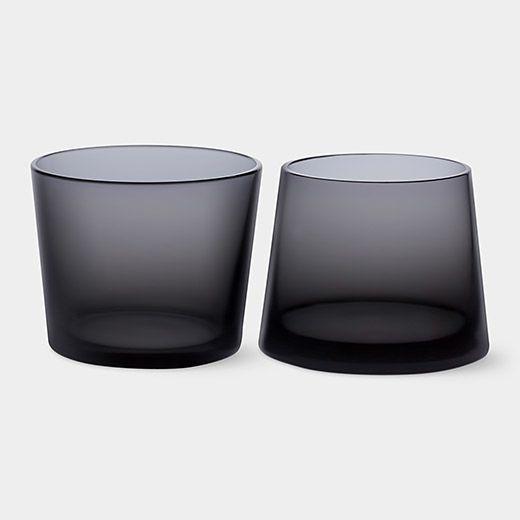 Black Whiskey Glass Set: