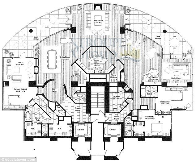 Escala Penthouse Floorplan...people have too much time on their hands....and I repinned it!