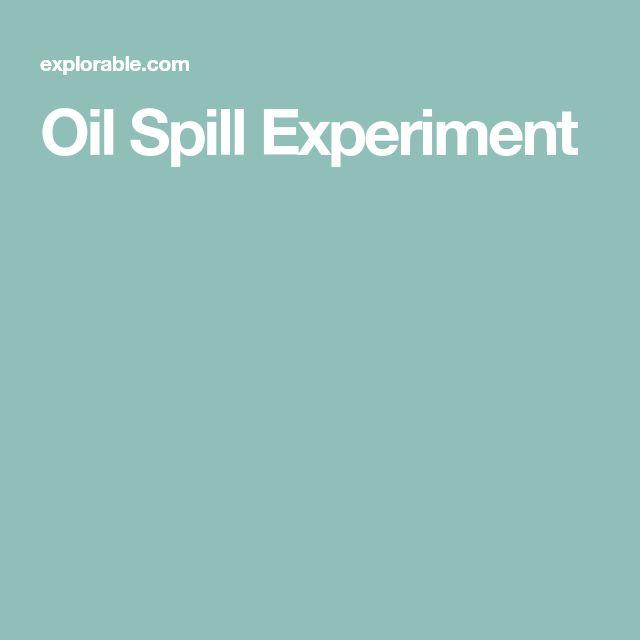 Oil Spill Experiment