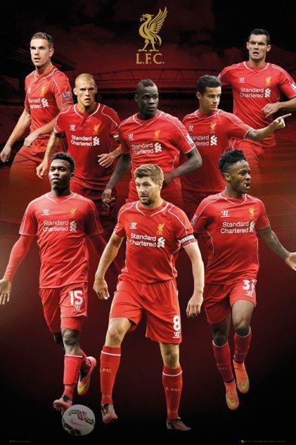 Liverpool Zawodnicy 14/15 - plakat - 61x91,5 cm  Gdzie kupić? www.eplakaty.pl