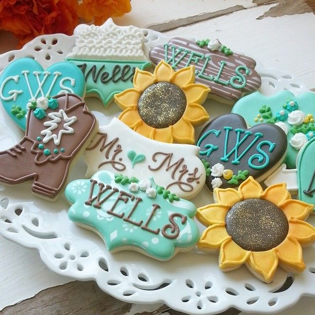 Rustic country wedding cookies                              …