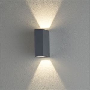 picture of clarence led exterior updown wall light ex2561 crompton lighting