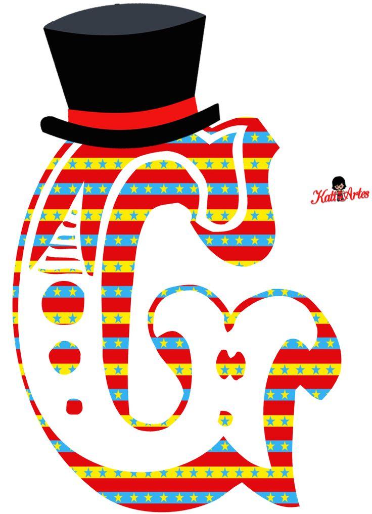 EUGENIA - KATIA ARTES - BLOG DE LETRAS PERSONALIZADAS E ALGUMAS COISINHAS: Alfabeto Circo