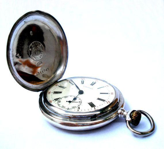 Antiguo Reloj Bolsillo Suizo LONGINES Cazador por shopvintage1