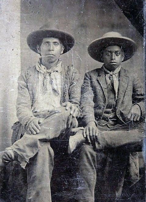 Father & Son c 1860-1870 Chickasaw-African [Moorish] Heritage