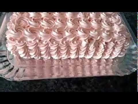 Decoração de Bolo com Bico 1M da Wilton - YouTube                                                                                                                                                     Mais