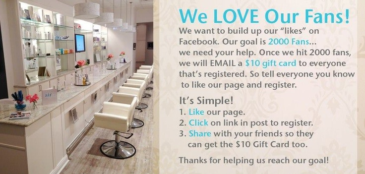 Check our Beautiful Salon on FB!! Hits 2000, We need you