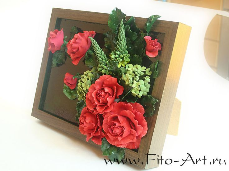 Decor: Painting with red roses - Fito Art
