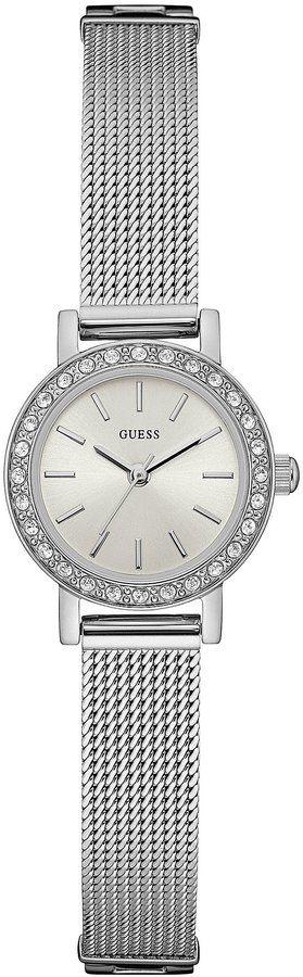 GUESS Petite Analog Stainless Steel Mesh Bracelet Watch