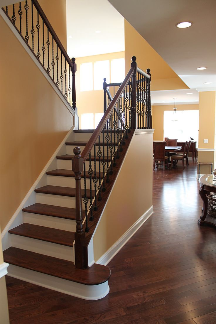 Front Steps Railing Home Design Ideas Pictures Remodel And Decor: Staircase Remodel In Hoffman Estates, Illinois