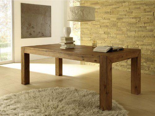 Esstisch Auszug Akazie Wohnzimmertisch Tisch Massivholz 240-300/100 Auszug Florenz Massivholztisch