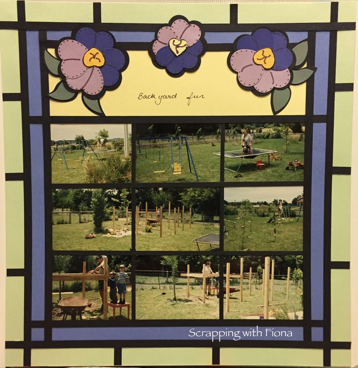 Make a stained glass window, all of your own. #scrapbooking #scrapbookinglayout  #scrapbookingideas