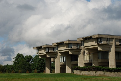University of Massachusetts at Dartmouth (originally built as Southeastern Massachusetts University in the 1960's). Designed by Paul Rudolph