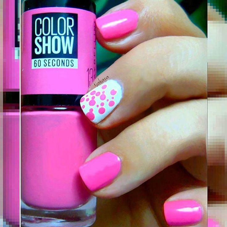 Maybelline colorshow '13 nyprincess'. #tjakasasnails #maybelline #nagellack #barbiepink #pinknails #beautyblogger  #cutenails #nailswag #nailporn #rossmann #nails2inspire#naillaquer #neonpink #nailpolish #nyprincess #maybellinecolorshow #nageldesign #nailart #nailsoftheday #beauty #pink #dotticure