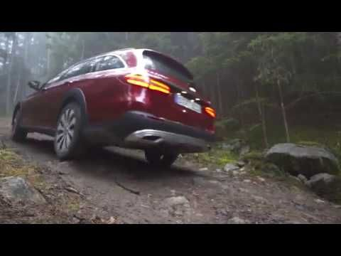 Mercedes E Class 220d ALL TERAIN 2017 OFFROAD experience Hyacinth Red - YouTube