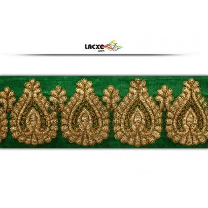 This design is of Embroidery Cord . Its product code is: 011366 , Its size is: 60 mm. Material used is 100% Polyester.Price: Rs1,688.00 / 9 Meter Roll
