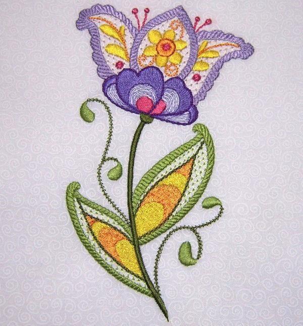 Fleurs crewell