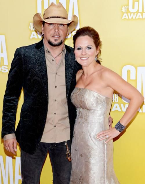 American country singer, Jason Aldean with his ex-wife Jessica Ussery. They divorced in April 2013.