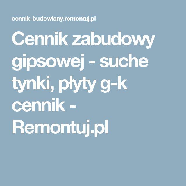 Cennik zabudowy gipsowej - suche tynki, płyty g-k cennik - Remontuj.pl