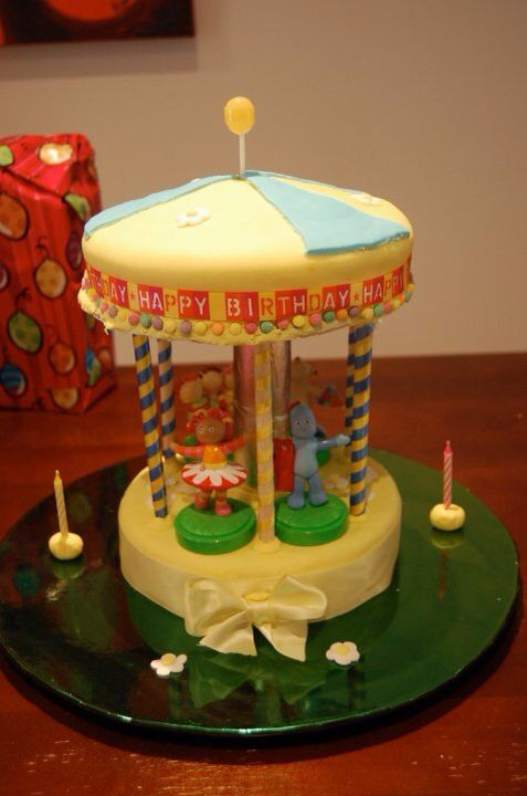 In the night garden, carousel, birthday cake