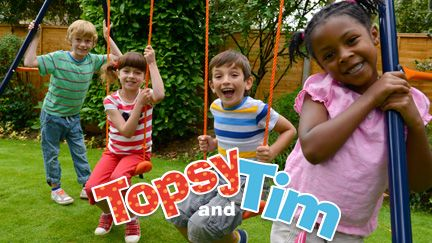 topsy and tim still from the successful cbeebies tv show. Black Bedroom Furniture Sets. Home Design Ideas