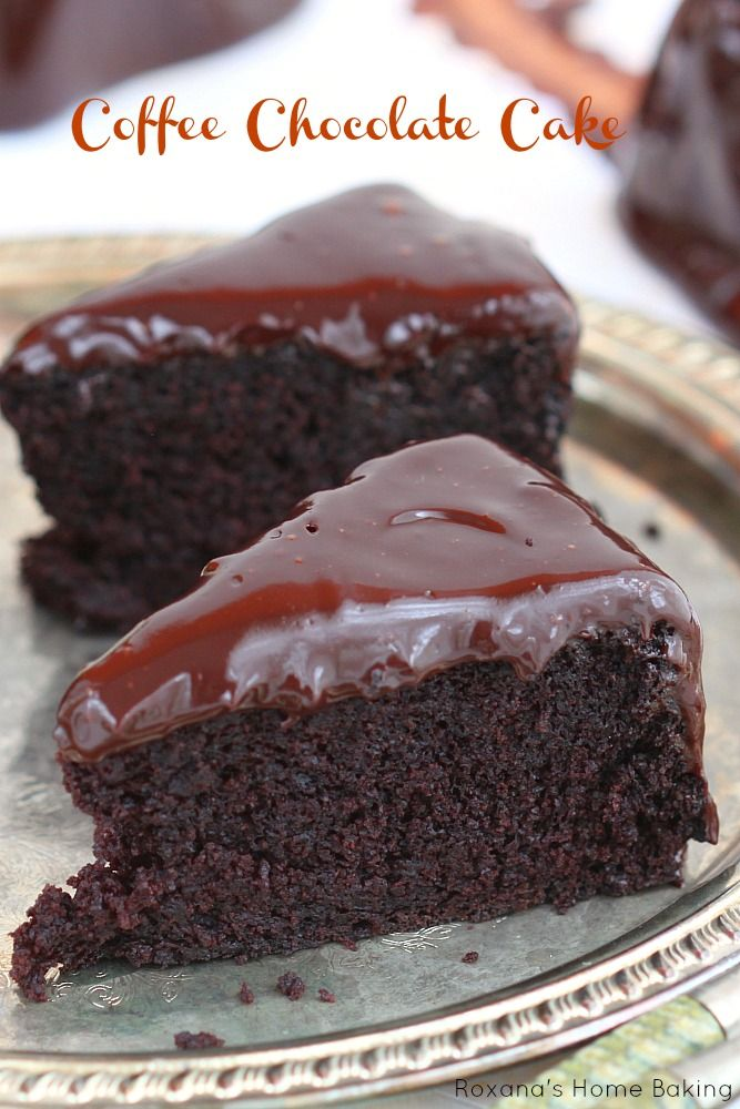 Incredible Delicious Old-Fashioned Chocolate Cake with Coffee Chocolate Ganache! Made with a secret ingredient that keeps it moist !!.
