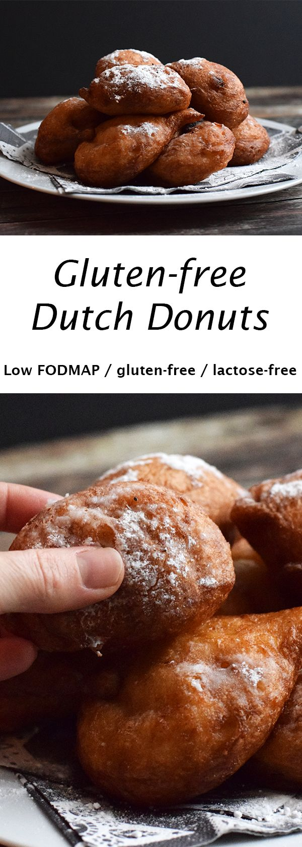 Delicious Dutch donuts. Low FODMAP, gluten-free and lactose-free.