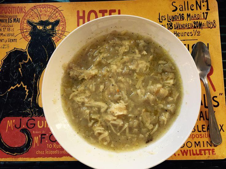 Zuppa di cipolla e tofu