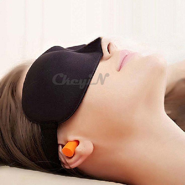 3D Soft Sponge Draping Eyeshade Sleeping Padded Sleep Mask with Ear Plugs Earplugs for Travelling YJ043-S5151