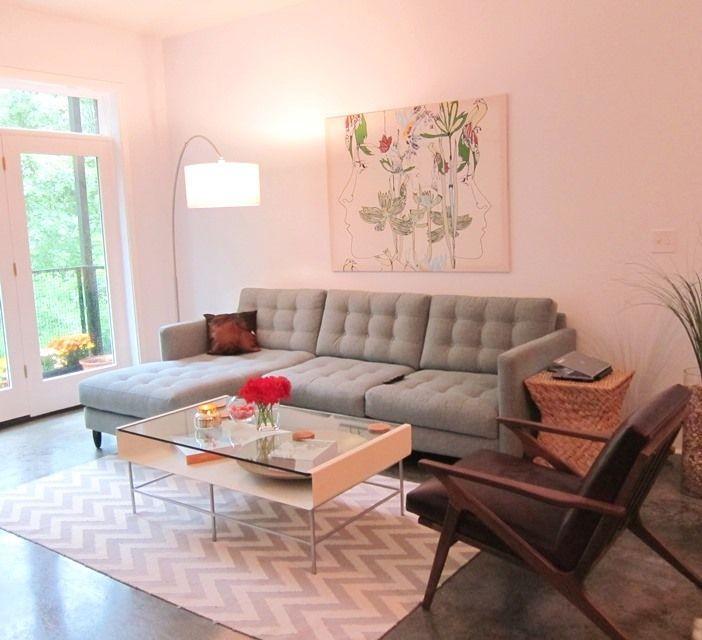 mid century modern living room home interior designs pinterest. Black Bedroom Furniture Sets. Home Design Ideas