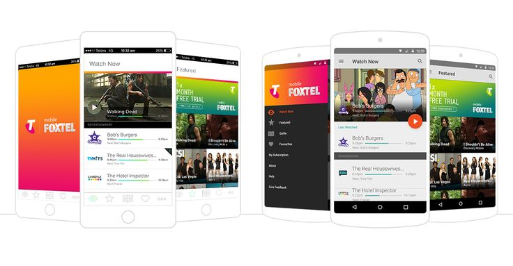 Mobile Foxtel App Design for Android & iOS | Studio Alto