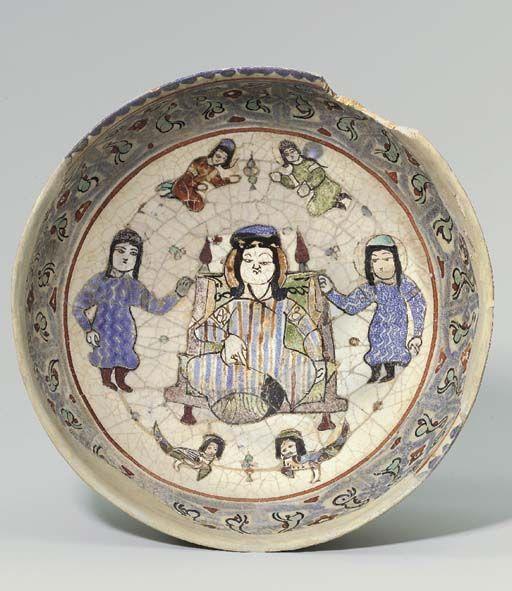 A MINA'I POTTERY BOWL CENTRAL PERSIA, CIRCA 1200