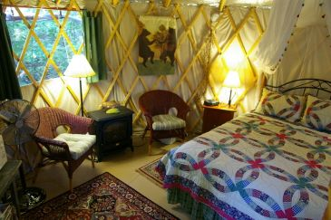 This site lists Yurt rental units available in the USA.  Gotta love Yurts!