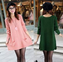 D51155J 2014 AUTUMN PURE COLOR POCKET WOMEN'S LONG PULLOVER SWEATERS Best Seller follow this link http://shopingayo.space