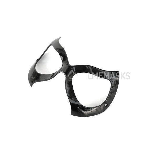 Black Cat Felicia Hardy Leather Mask Woman Spiderman by LMEmasks