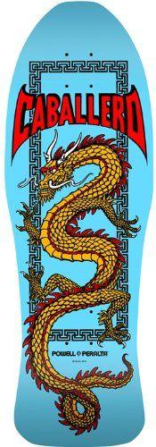 Amazon.com: POWELL PERALTA Skateboard Deck CABALLERO Chinese Dragon PURPLE PEARL: Sports & Outdoors