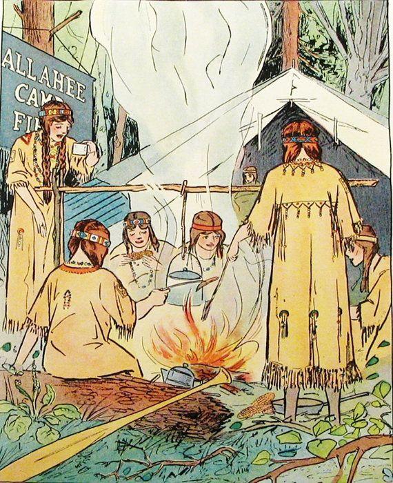 Vintage Campfire Girls 2 Children's Vintage by TheFinePrintShop, $16.95