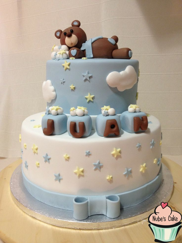 Tarta bautizo dos pisos tartas fondant nube s cake for Decoracion de pisos