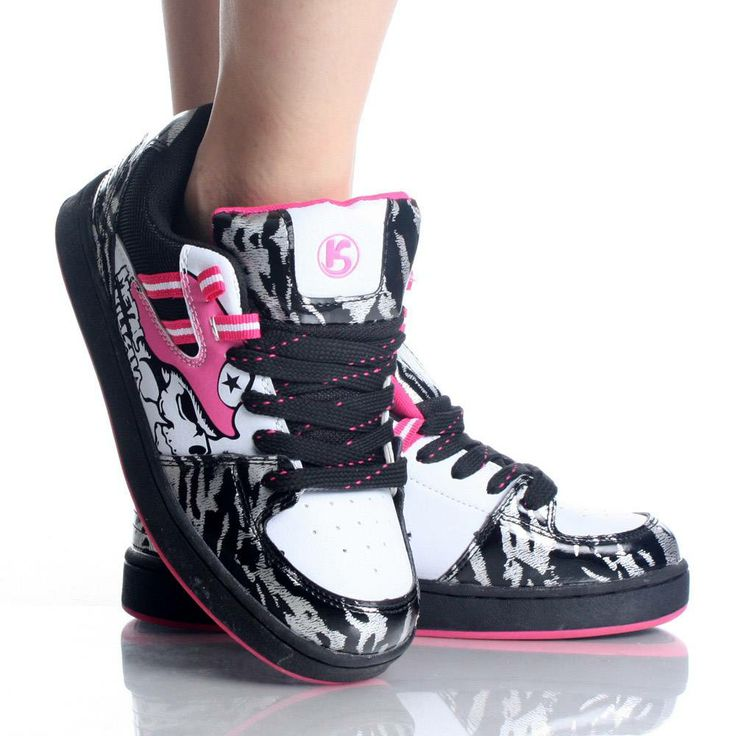 CUTE PINK METAL MULISHA SKATE SHOES