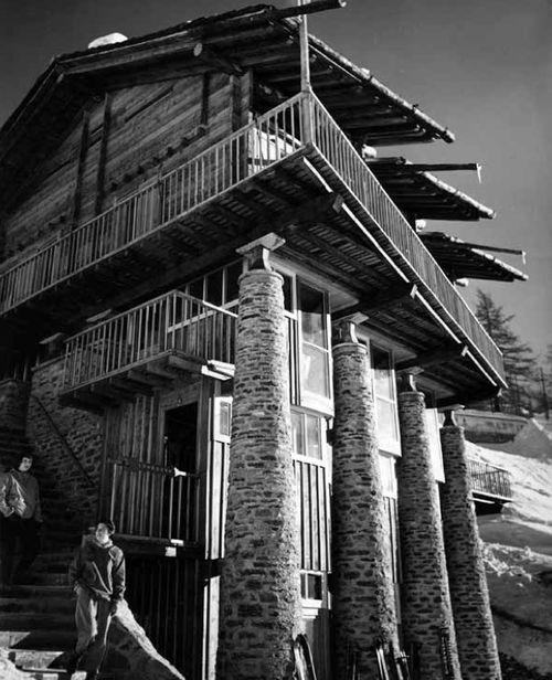 Franco Albini - Albergo rifugio Pirovano, Cervinia, 1952