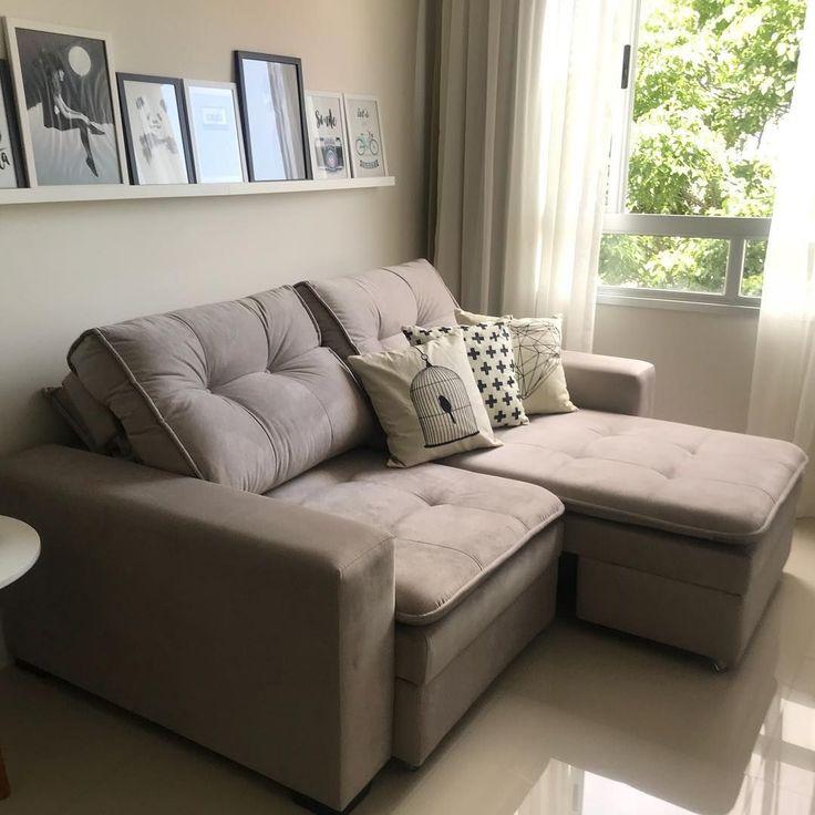 Más reciente Fotografías sala de estar pequena sofa em l ...