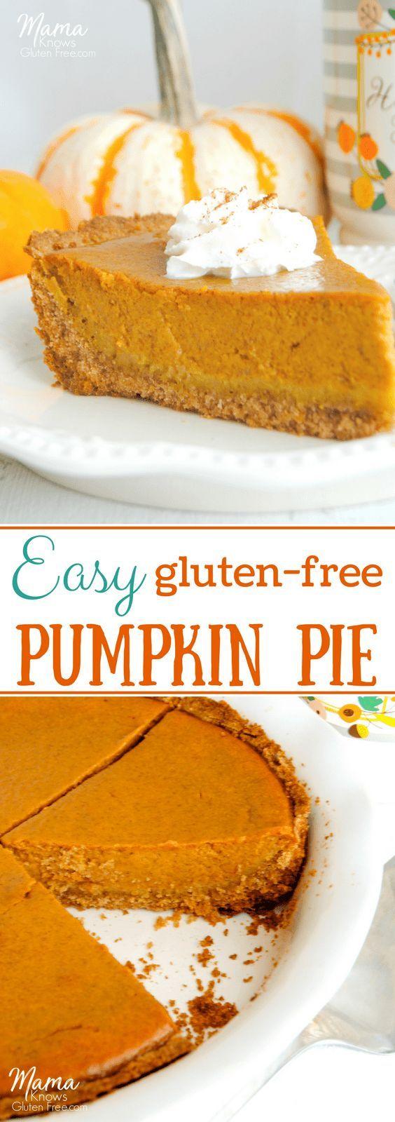 Easy Gluten-Free Pumpkin Pie