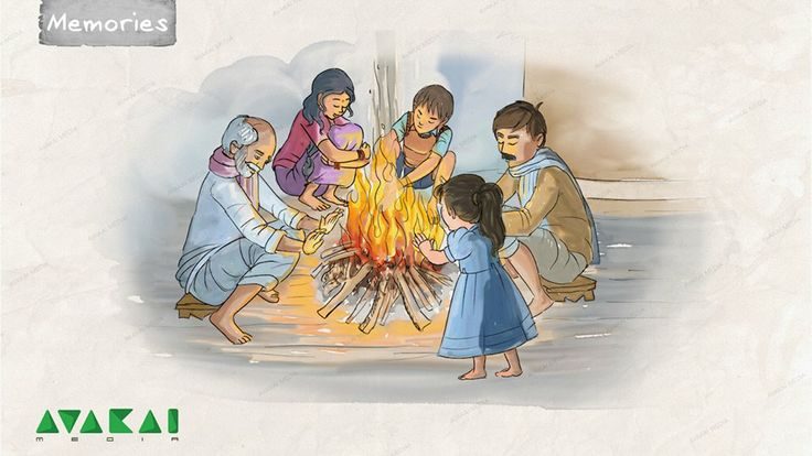 'chali mantalu' or 'winter campfires' are popular in villages. During the winters, early in the morning - family members gather around the campfire for warmth, and chat along.